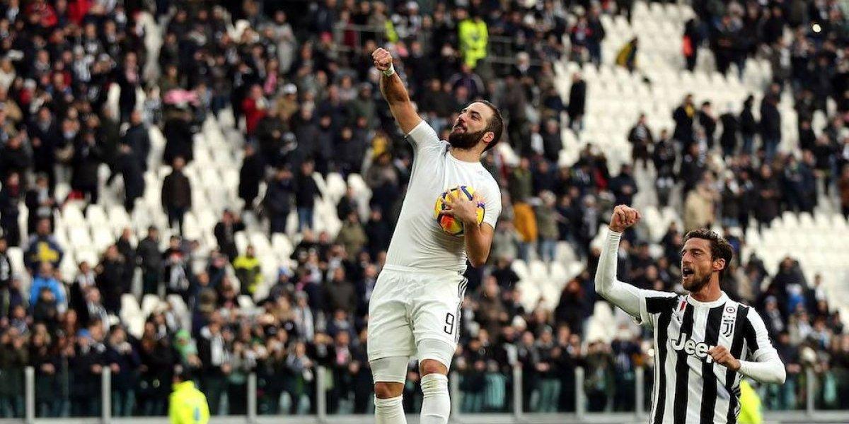 Higuaín marca tres en paliza de la Juventus sobre el Sassuolo