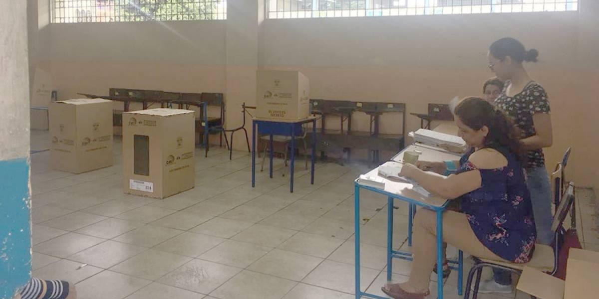 Se registra ausencia de miembros de Juntas Receptoras del Voto