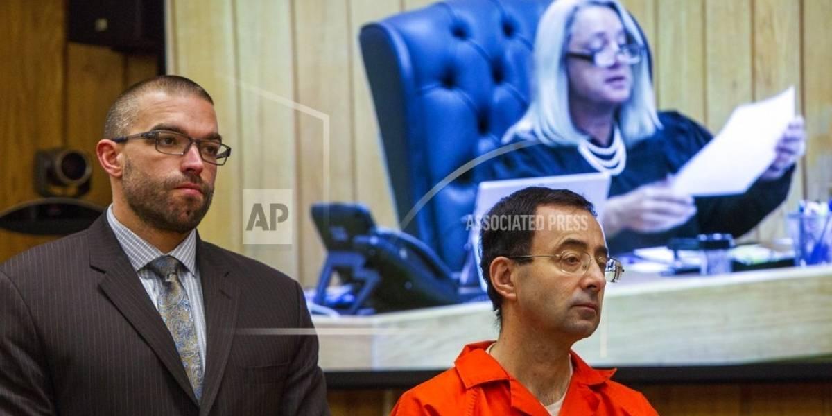 Larry Nassar, exmédico que abusó de gimnastas recibe una 3ra sentencia