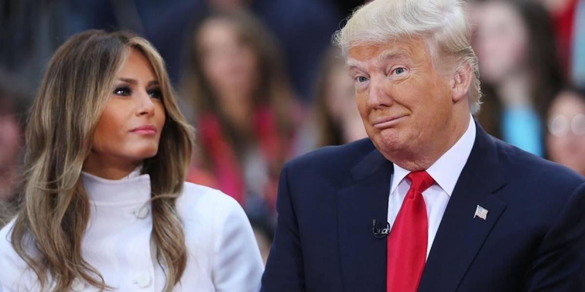 ¡Lo dejó plantado! Melania se niega a posar junto a Trump