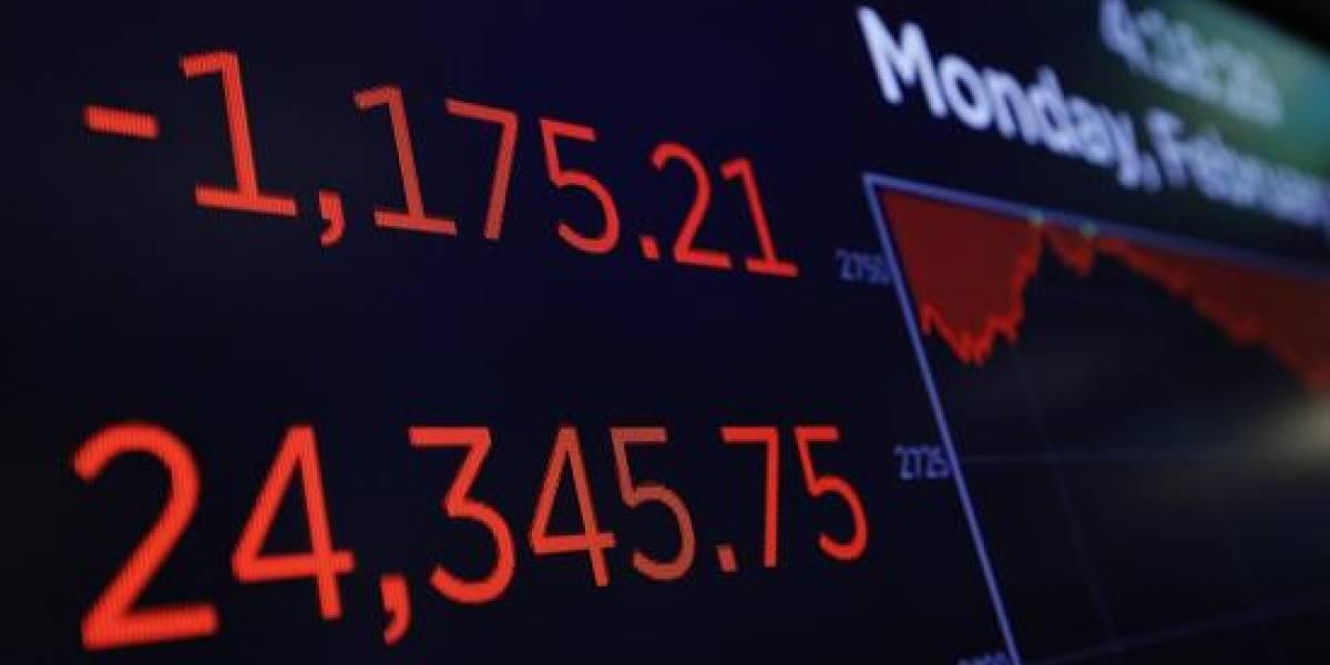 Dow Jones sufre la mayor caída en puntos de su historia