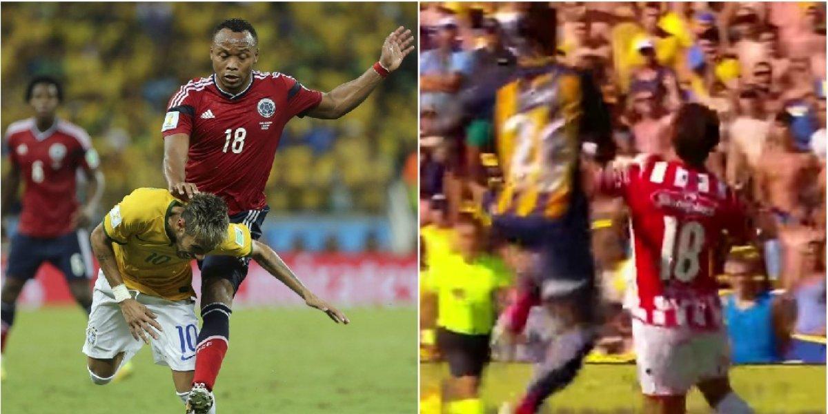 Periodistas argentinos se la montaron a futbolista colombiano por violento