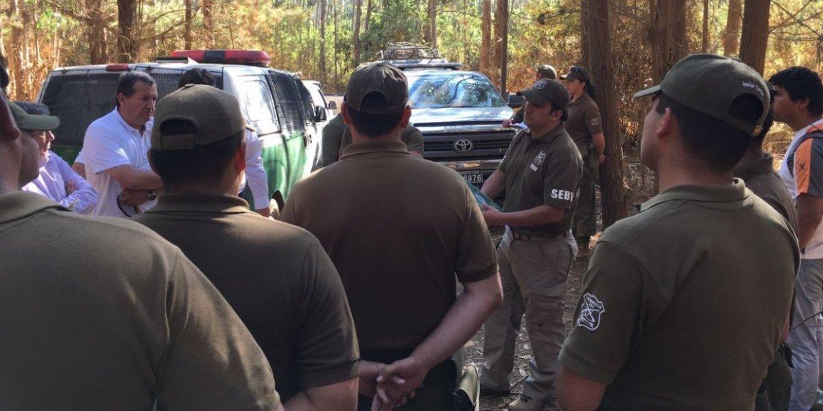 Aumentan despliegue policial para buscar a la niña presuntamente secuestrada en Licantén