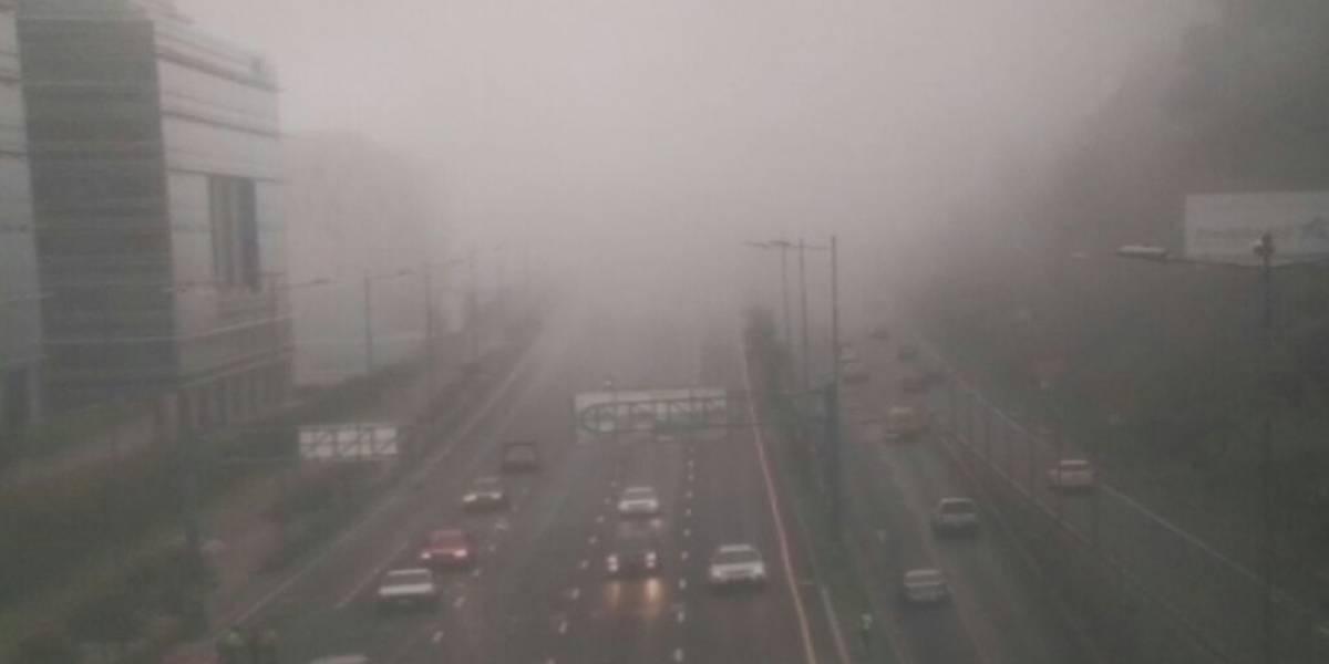 Quito: Niebla y lluvia se mantendrán en las próximas 48 horas