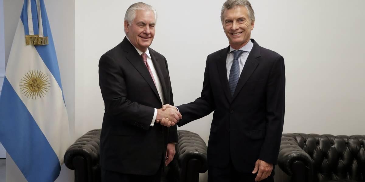 Secretario de Estado norteamericano se reunió con Macri
