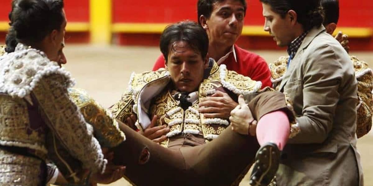 En fotos: torero caleño recibió cornada de 28 centímetros en Medellín