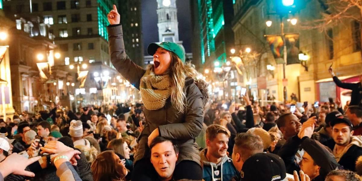 Los festejos del Super Bowl llenan las calles de Filadelfia