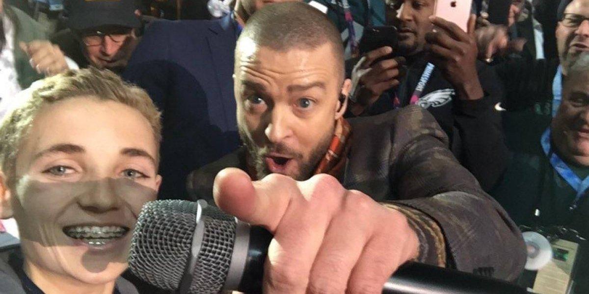 VIDEO. Se burlan de Timberlake porque hizo famoso a un chico en el Super Bowl LII