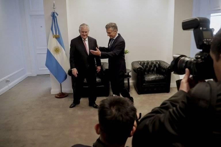 Rex Tillerson y Mauricio Macri