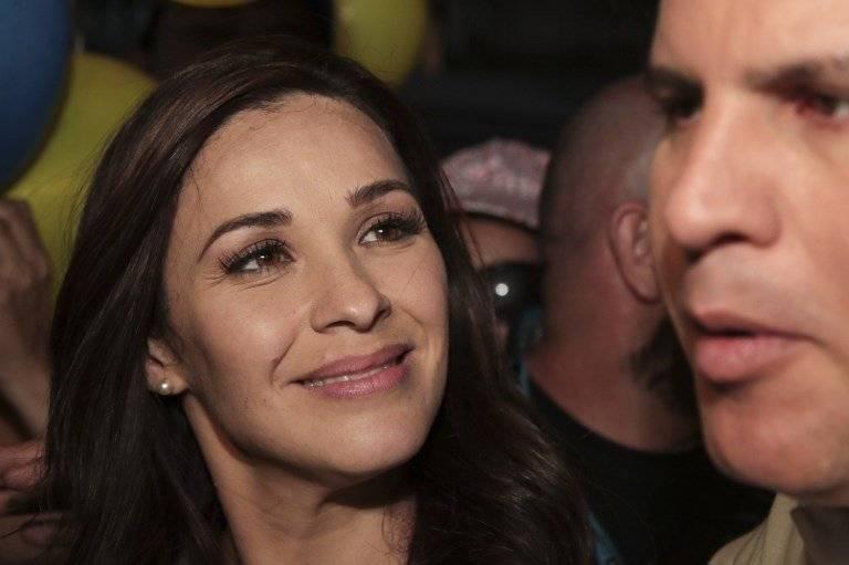 Laura Moscoa y Fabricio Alvarado