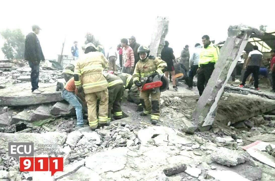 Colapso de vivienda en Latacunga-Cotopaxi ECU 911