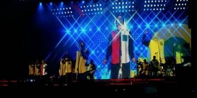 Aspectos del show de Bruno Mars.
