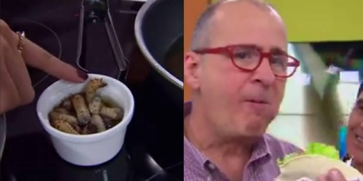 Jota Mario y los demás presentadores de Muy Buenos Días comieron gusanos, así les fue