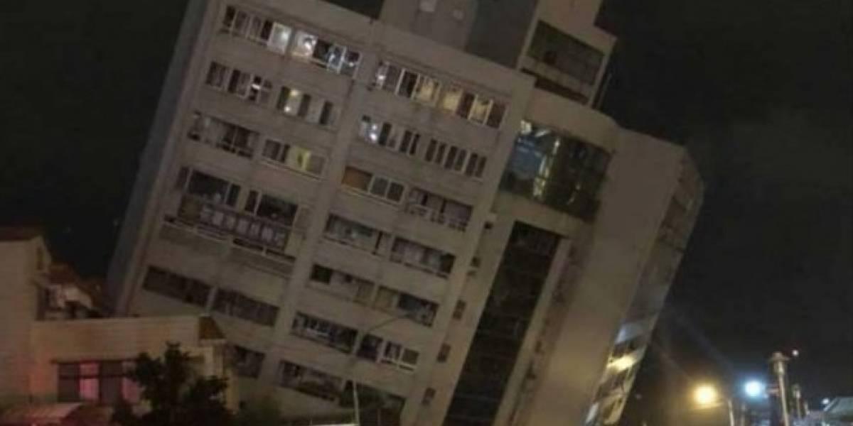 Terremoto 6,4 en Taiwán derriba hotel: así fue el escalofriante momento de la tragedia