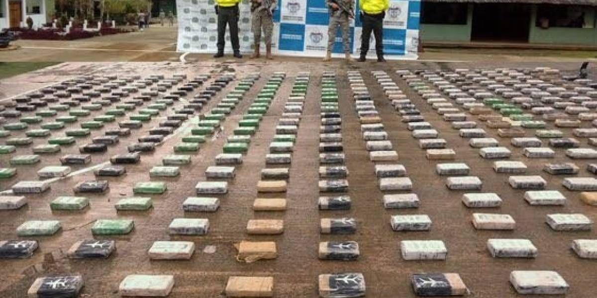 Colombia: incautan tres toneladas de cocaína en acción internacional