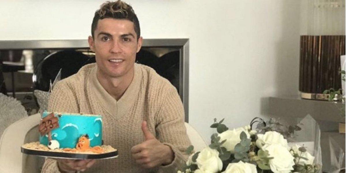 Se viraliza foto de Cristiano Ronaldo en ajustada prenda en su cumpleaños