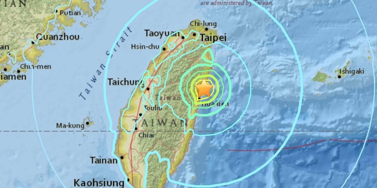 Terremoto magnitud 6.4 grados colapsa edificios en Taiwán