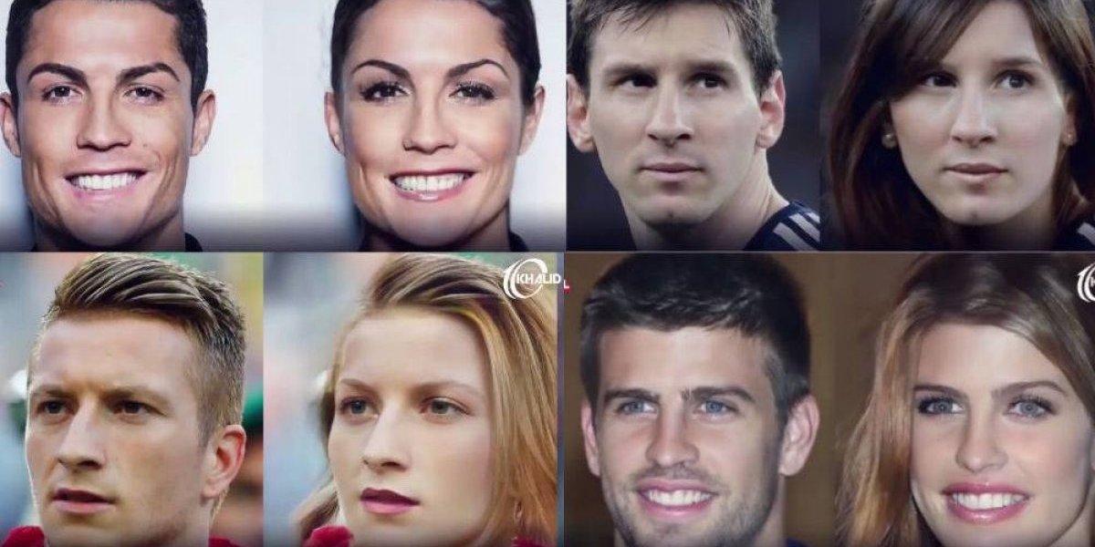 Así lucirían CR7, Messi, Neymar y compañía si fueran mujeres