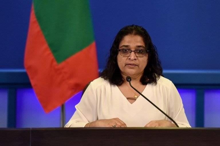 Azima Shukoor, portavoz del gobierno de Maldivas