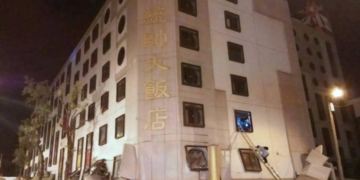 VIDEOS. Terremoto de 6.4 grados provoca graves daños en Taiwán