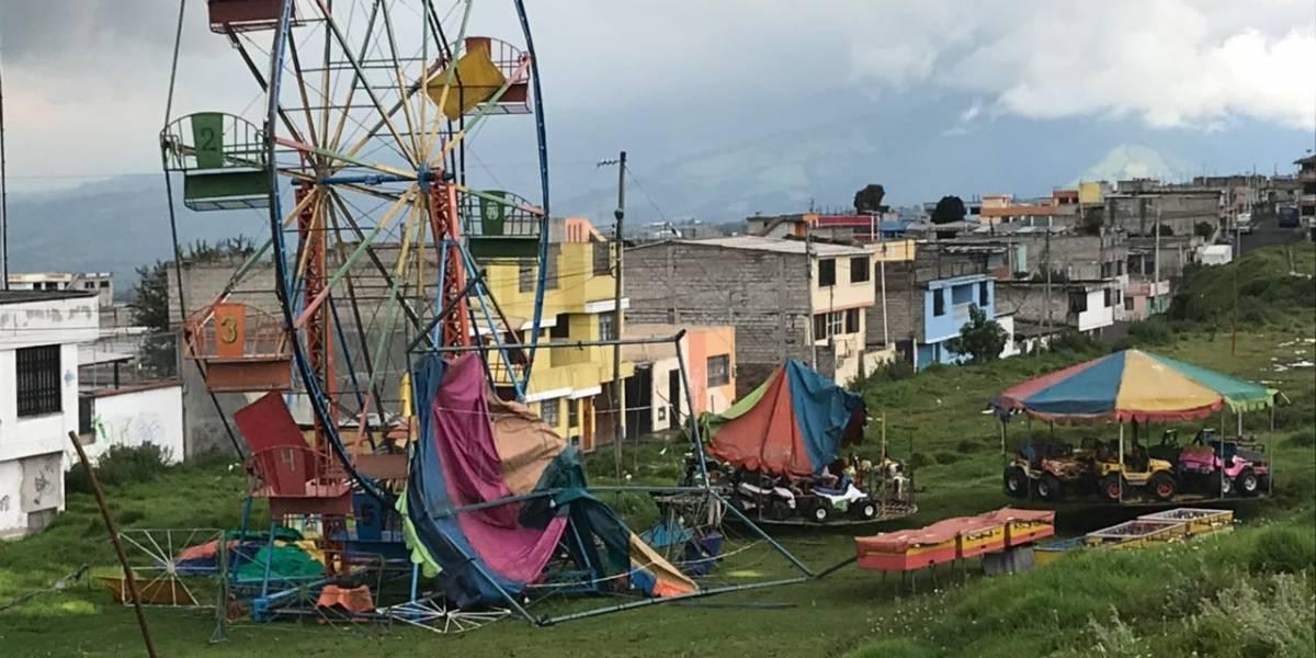 Torbellino sorprendió a moradores del sur de Quito