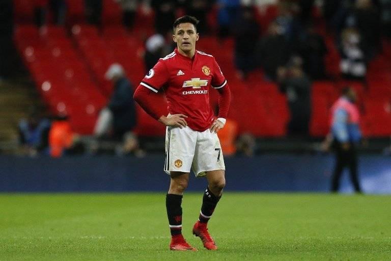Alexis Sánchez con el Manchester United