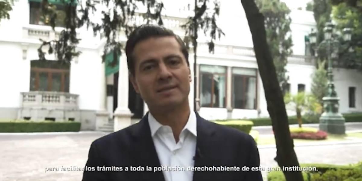 Peña Nieto pide ayuda a la población para mejorar app del IMSS Digital