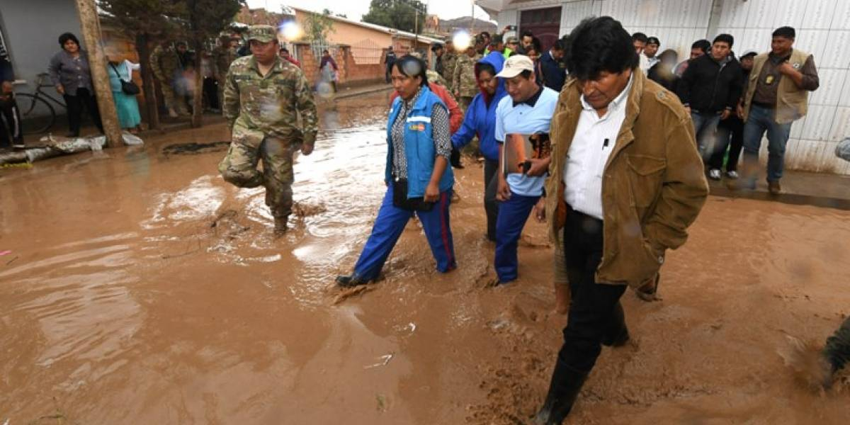 Estado de emergencia en Bolivia por lluvias e inundaciones