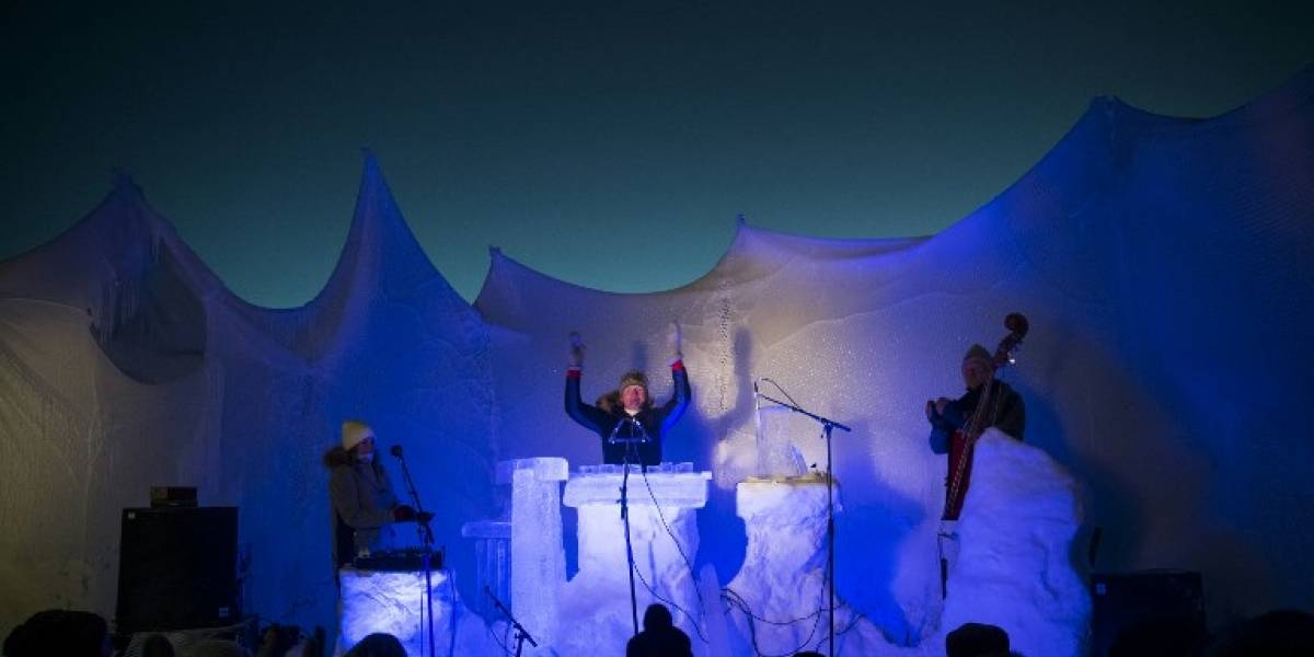 Con instrumentos de hielo y a 24 grados bajo cero se vive este festival de música en Noruega