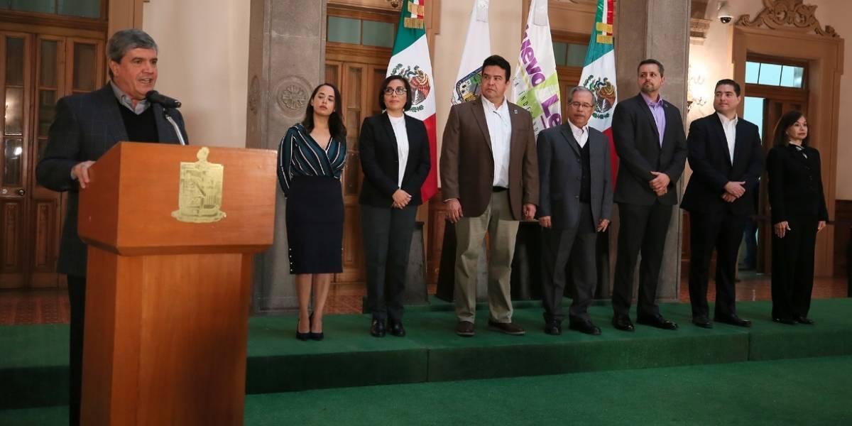 Gobernador interino de Nuevo León renueva gabinete