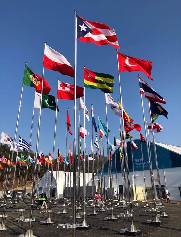 bandera de Puerto Rico en los Juegos de Invierno