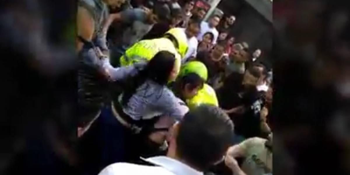 Video: Comunidad captura parrillera ladrona en Bogotá