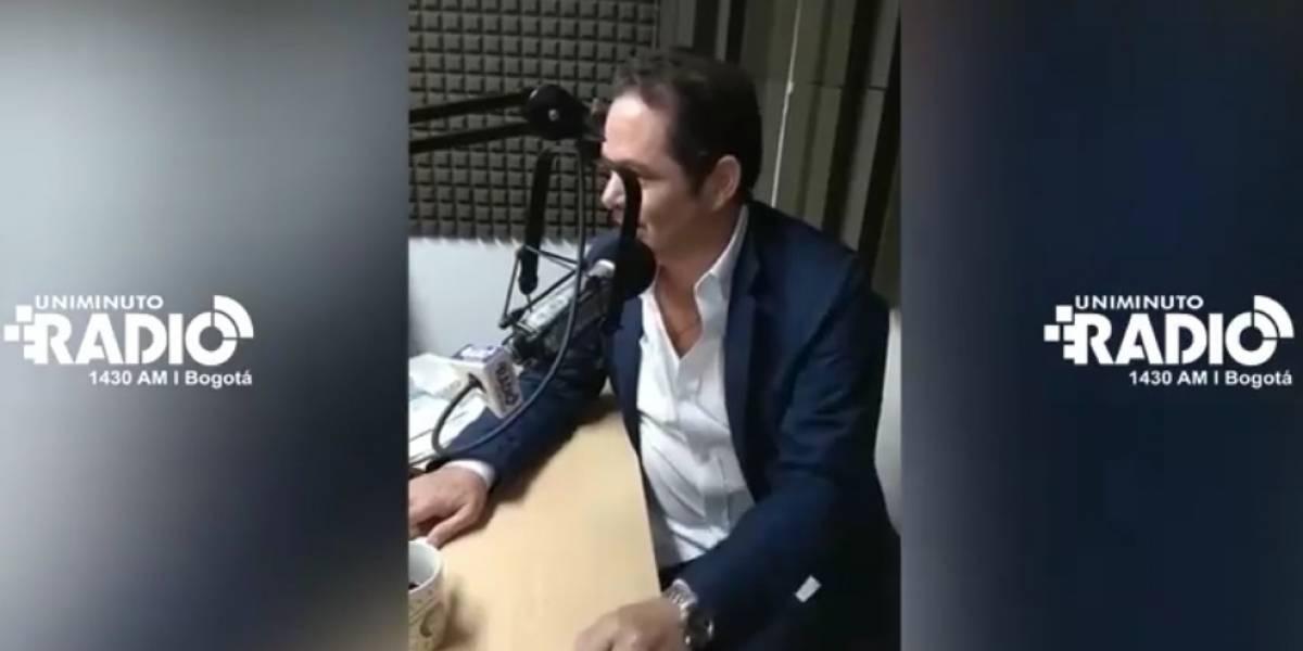 (Video) Germán Vargas Lleras se retira de entrevista tras pregunta que lo incomodó