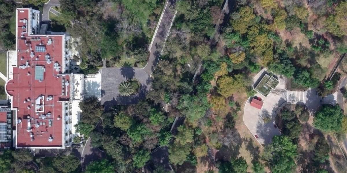Foto aérea de Los Pinos causa polémica entre usuarios de las redes sociales