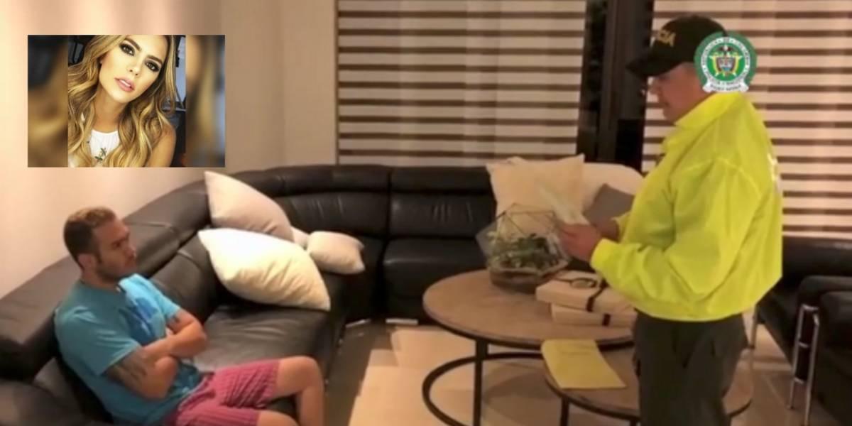 #Video: Así fue la captura del esposo de la presentadora de Caracol, Vaneza Peláez