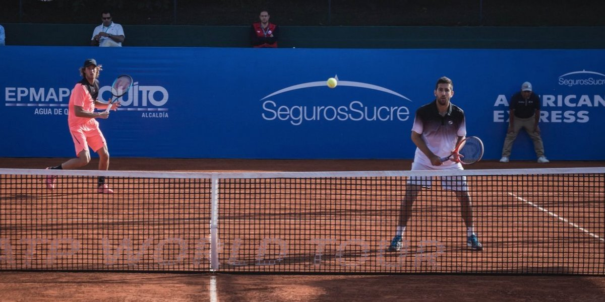 Jarry en llamas: clasificó junto a Podlipnik a las semifinales del dobles en el ATP de Quito