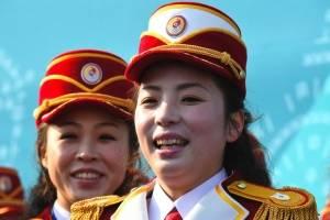 Animadoras norcoreanas en Pyeongchang