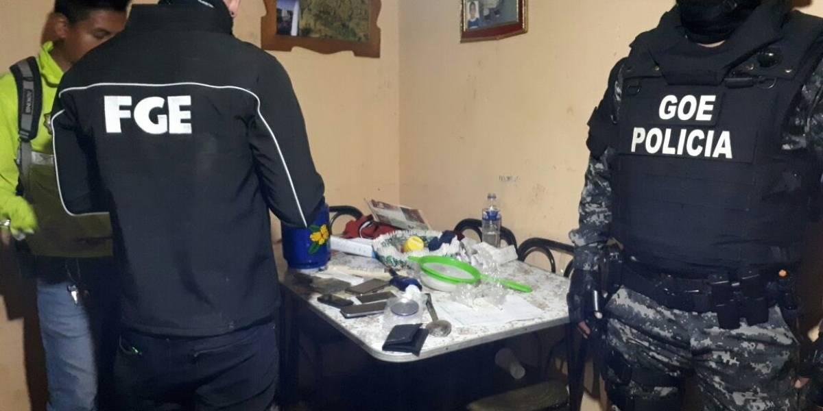 Allanamientos en Cuenca deja cuatro detenidos