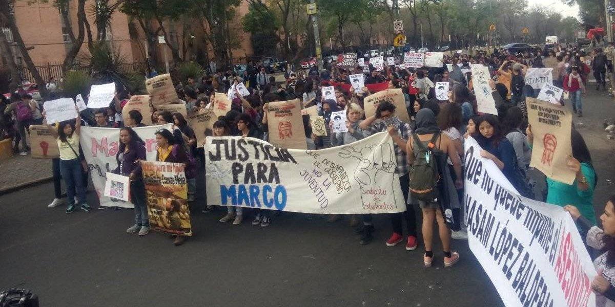 Marchan para exigir esclarecimiento del caso Marco Antonio