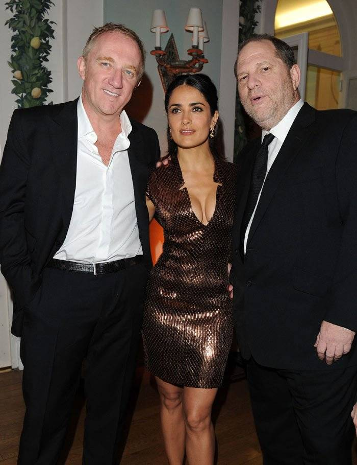 Salma Hayek y Harvey Weinstein