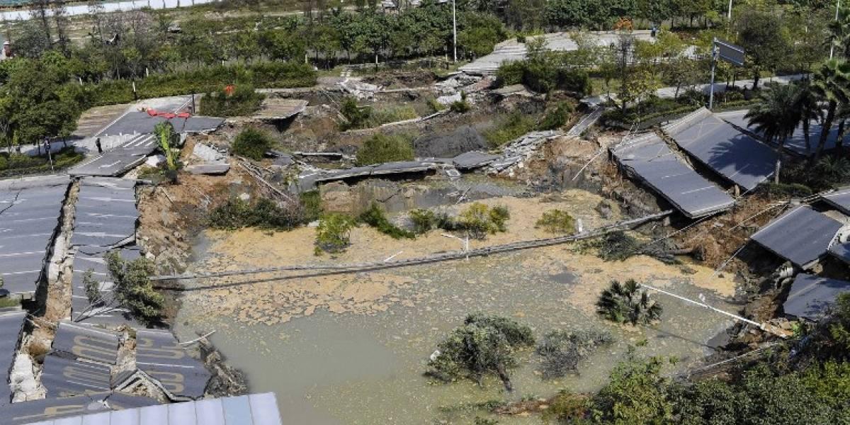 China: Ocho personas muertas y tres desaparecidas