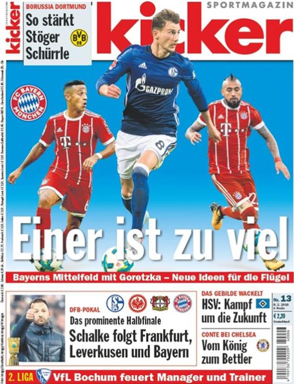 La portada de la revista alemana Kicker