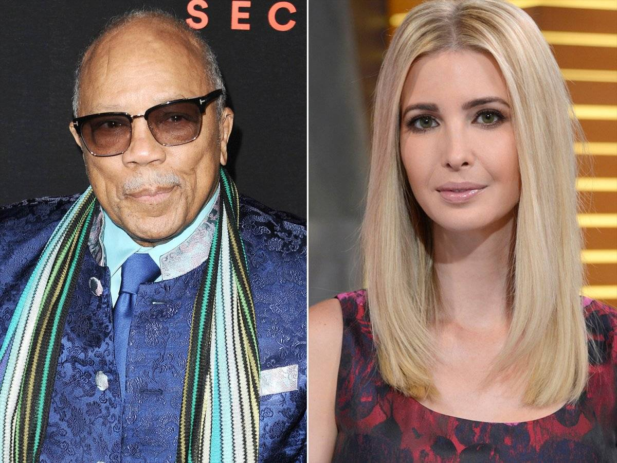 Quincy Jones e Ivanka Trump