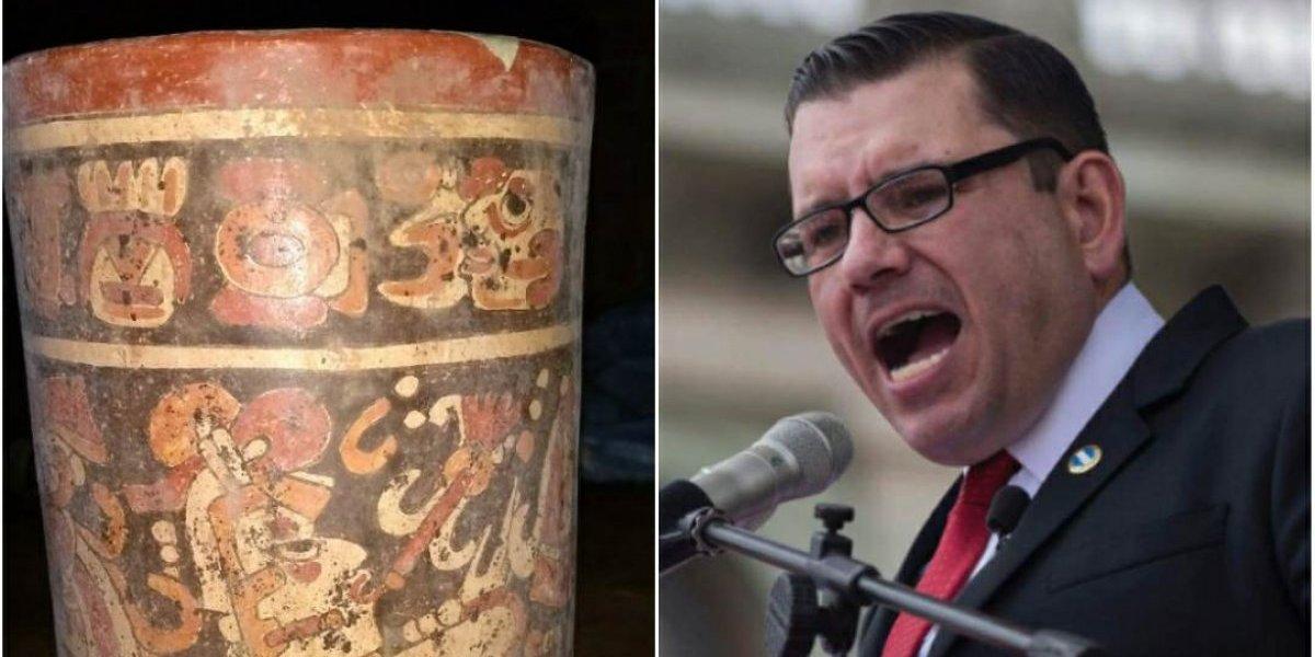 EN IMÁGENES. Estas piezas arqueológicas fueron localizadas en la casa blanca de Manuel Baldizón