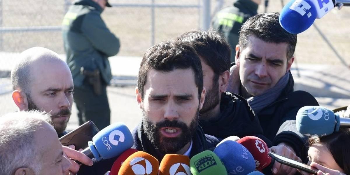 Presidente del Parlament visita a líderes independentistas presos en Madrid