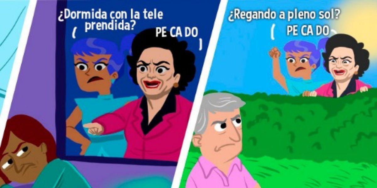La inusual campaña en Chile para ahorrar energía... con la Señora Católica