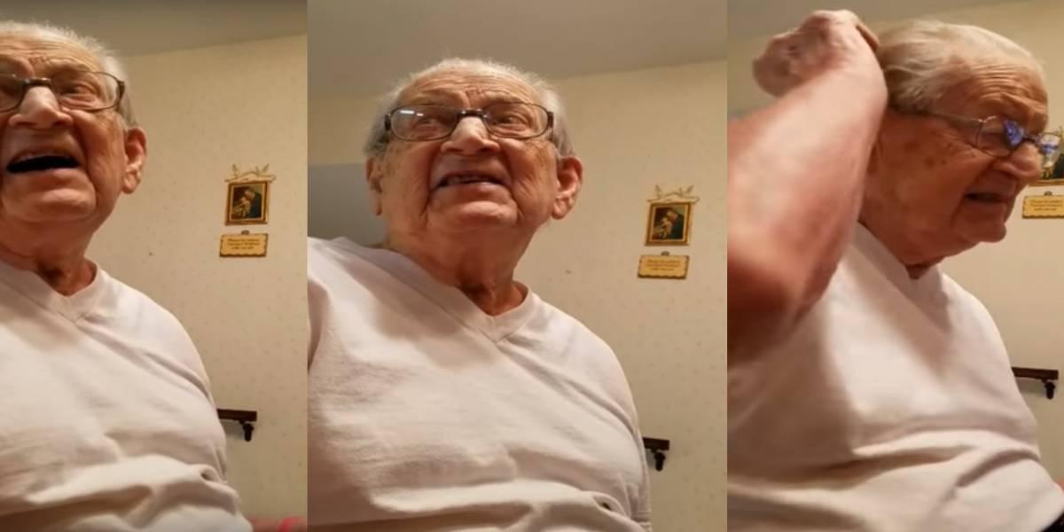 Abuelito se asombra al descubrir que tiene 98 años