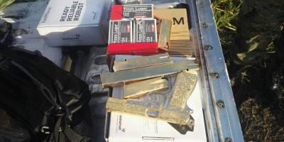 Armas de fuego bañadas en oro
