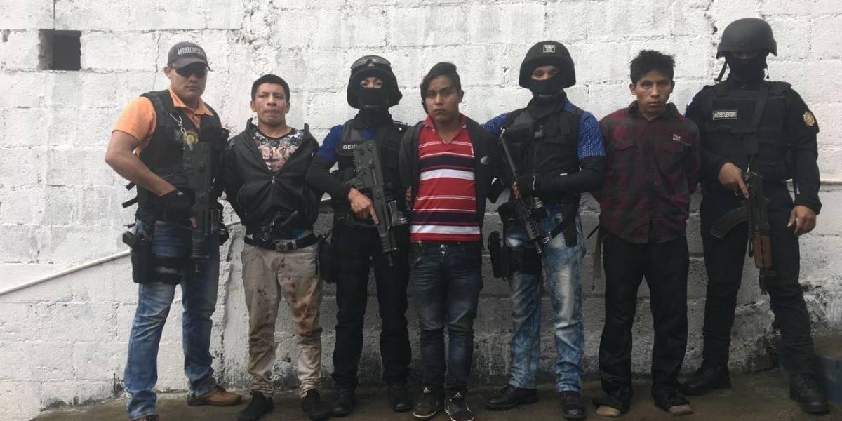 Desarticulan a banda de secuestradores en Totonicapán