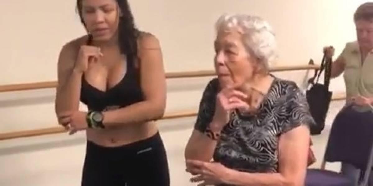 Video: abuela de 90 años baila reguetón mejor que muchos